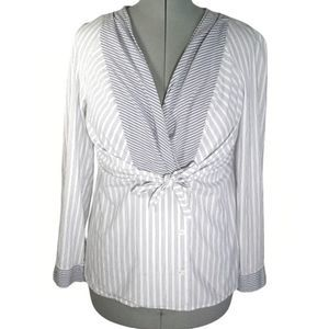 Anthro (Odille) striped knot top